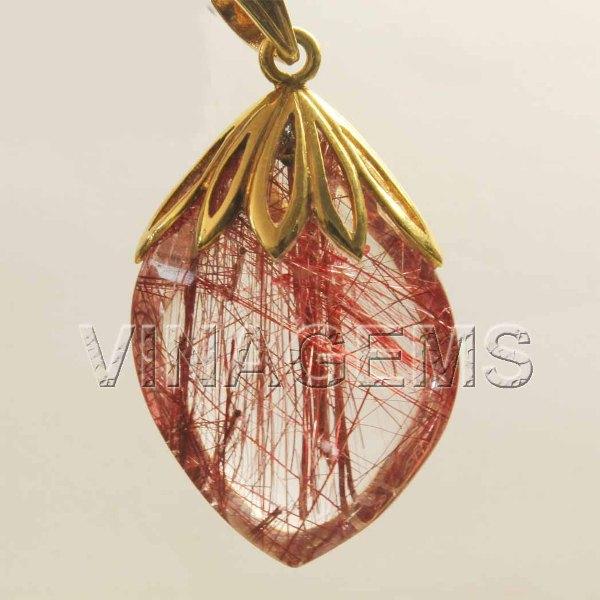Trang sức được chế tạo từ thạch anh tóc đỏ